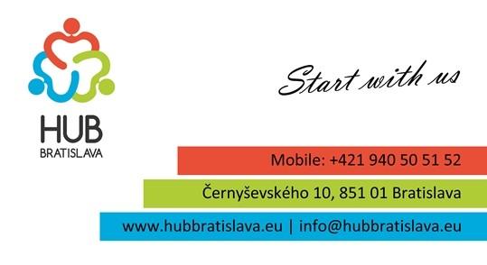 Vizitka - HUB Bratislava