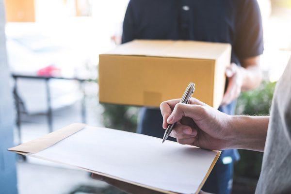 Retrieving of registered mail